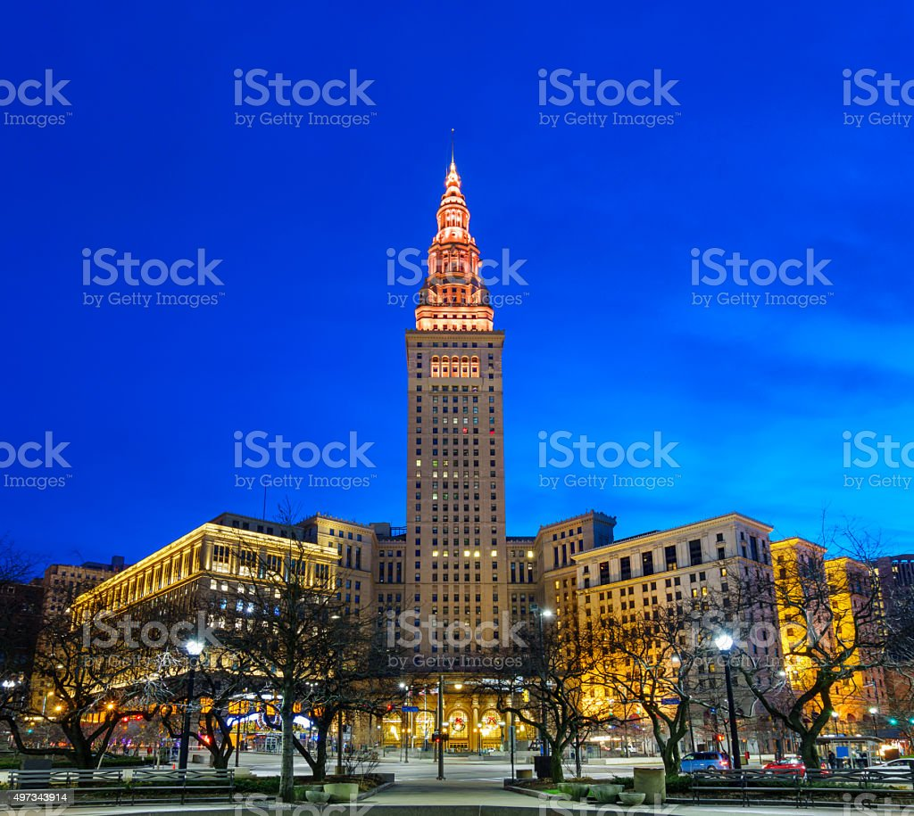Downtown Cleveland Ohio USA Tower City Center stock photo