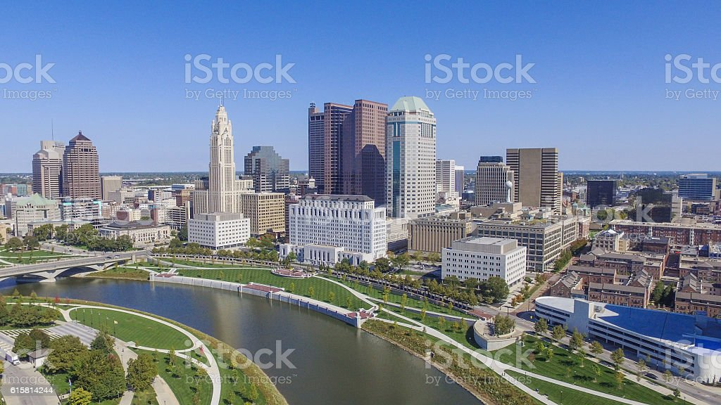 Downtown Columbus, Ohio stock photo