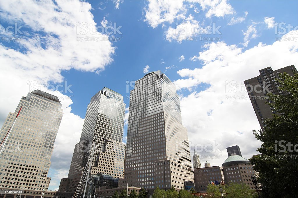 Downtown Commercial Center royalty-free stock photo