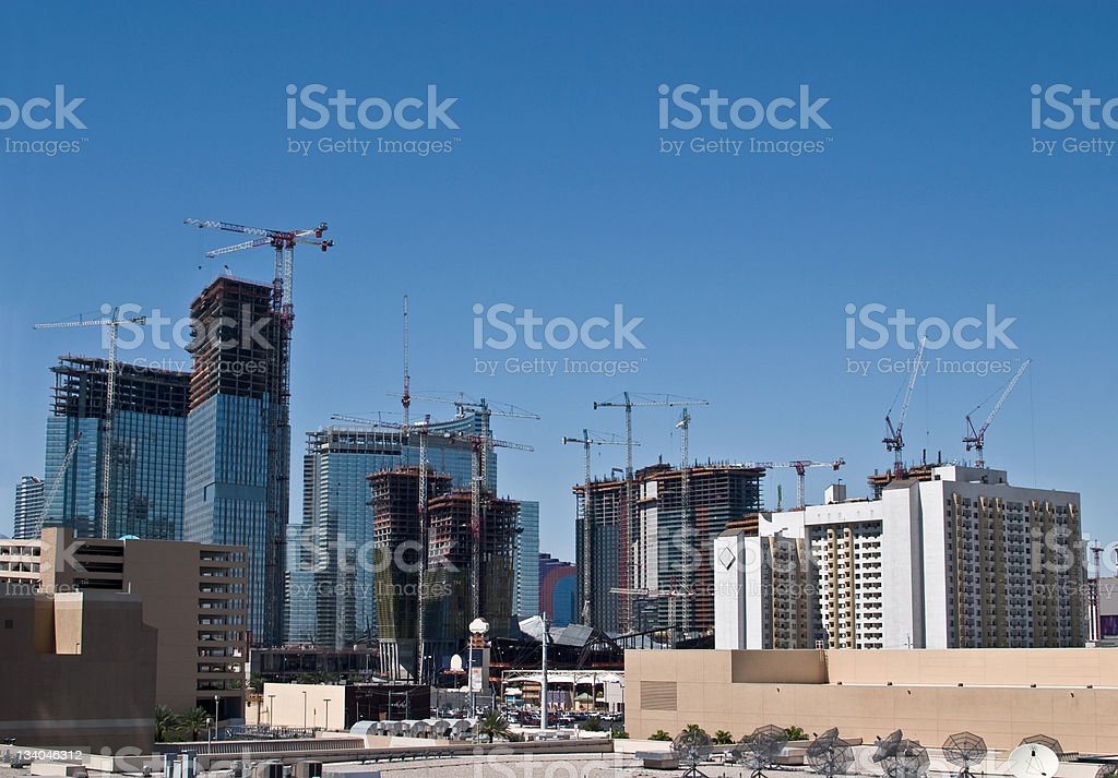 Downtown Construction royalty-free stock photo