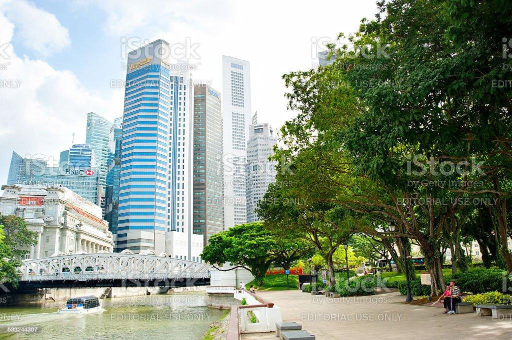 Downtown Core park, Singapore stock photo