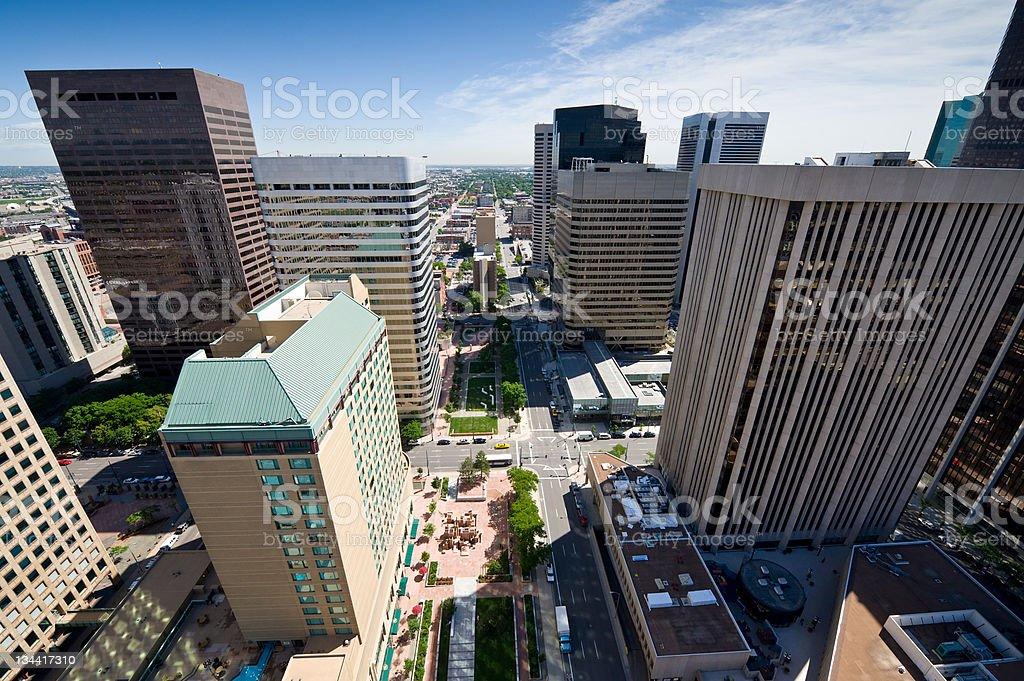 Downtown Denver Colorado Office Building Skyscrapers royalty-free stock photo