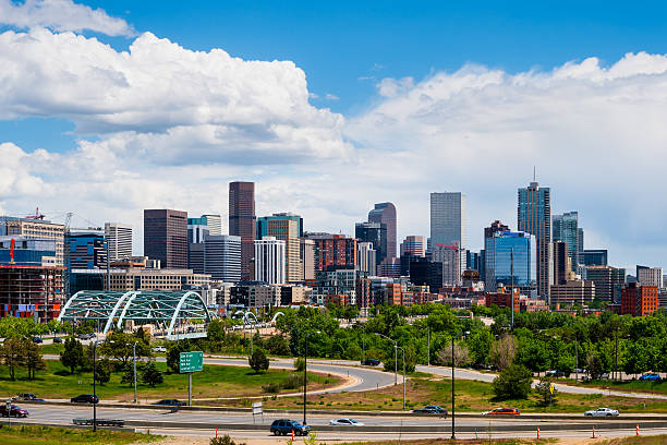 Downtown Denver Colorado stock photo