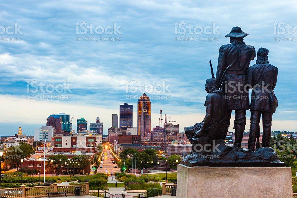 Downtown Des Moines, Iowa stock photo
