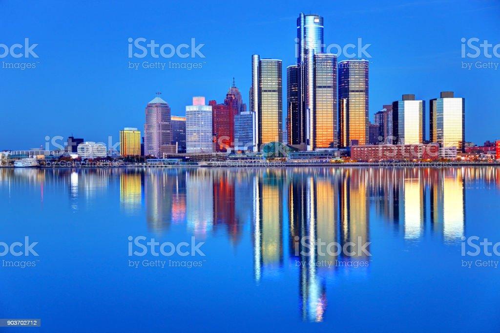 Fotografía de Skyline Del Centro De La Ciudad Detroit Michigan y más ...