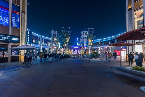 Spooky, apocalyptic, and newsworthy; the ready-to-publish images are professional, marketing, and creative. This image was edited only on Lightroom with basic adjustments. \n\nImage of Empty Downtown Disney during COVID-19 Gavin Newsom Outdoor Dining Ban Order