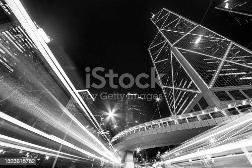 istock downtown district of Hong Kong city at night 1323618782