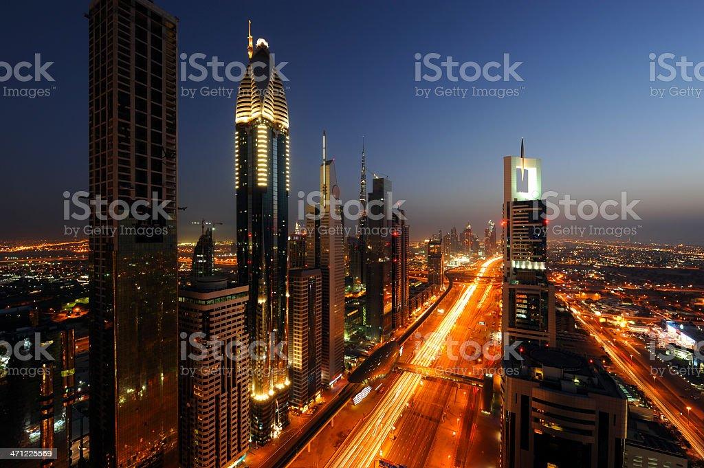 Downtown Dubai and Burj Khalifa royalty-free stock photo