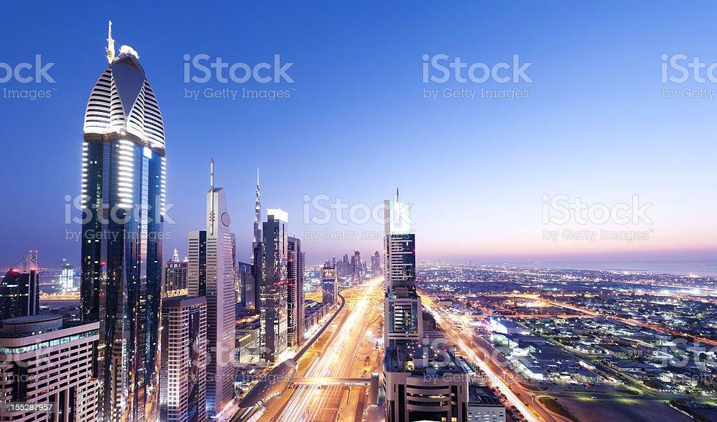 Downtown Dubai City Skyline in the United Arab Emirates royalty-free stock photo