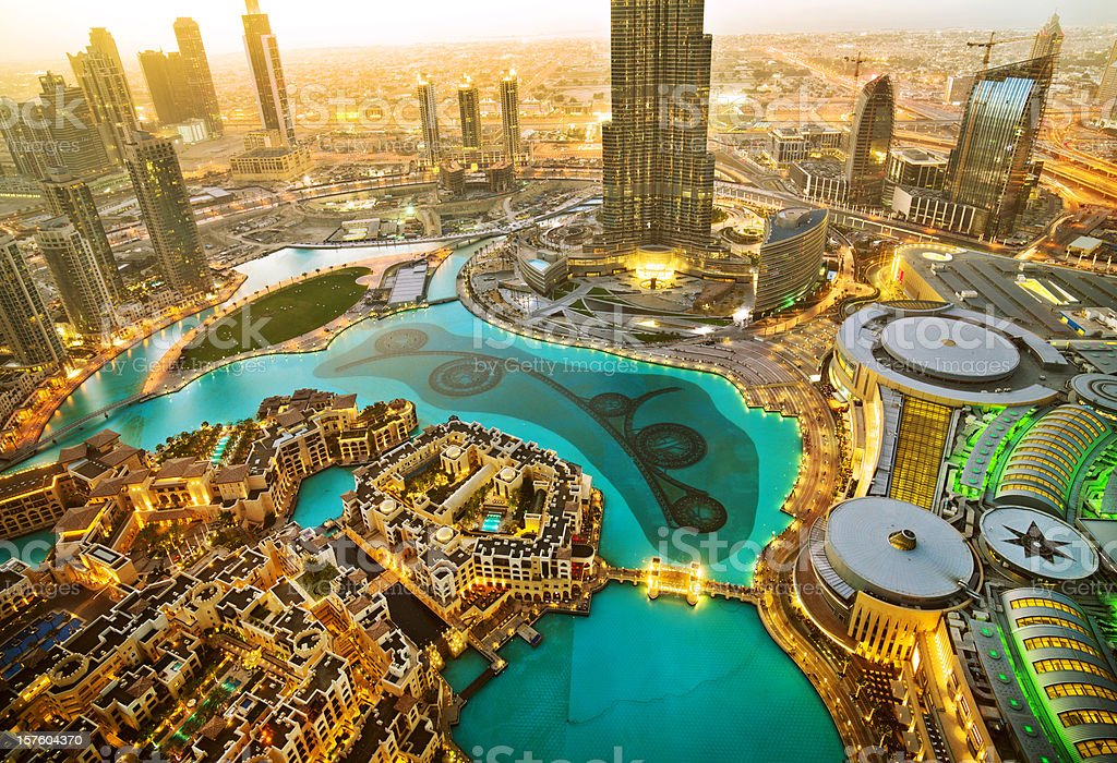 Downtown Dubai royalty-free stock photo