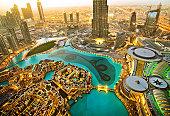 Dubai Skyscraper and Burj Khalifa, United Arab Emirates