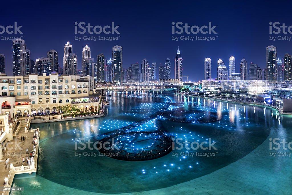 Downtown Dubai stock photo