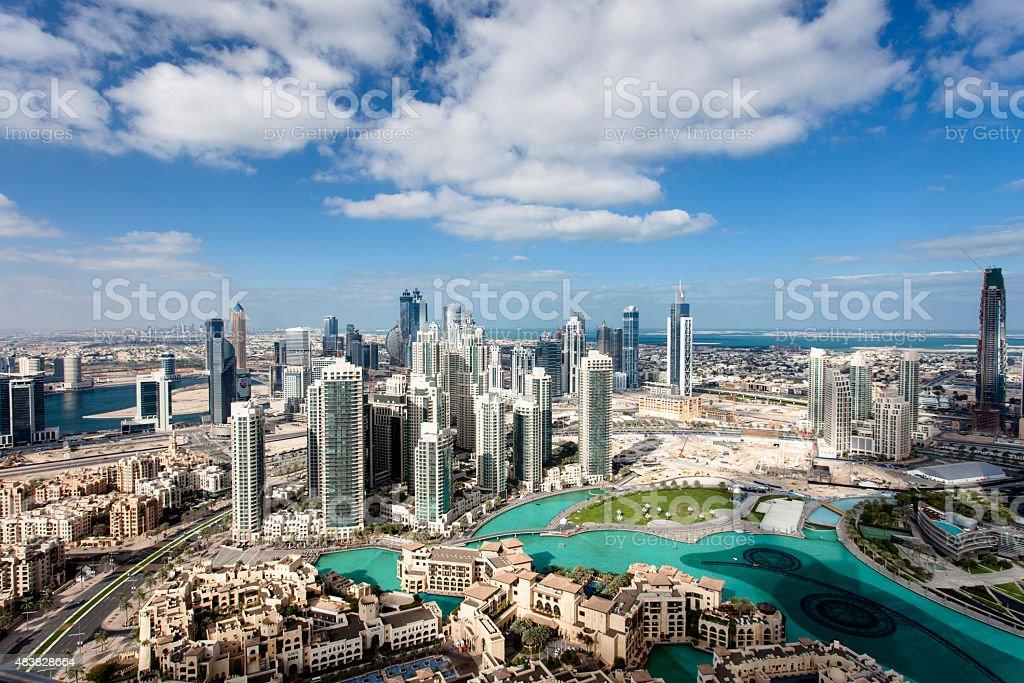 downtown Dubai Stadtzentrum von Dubai 2015 Stock Photo