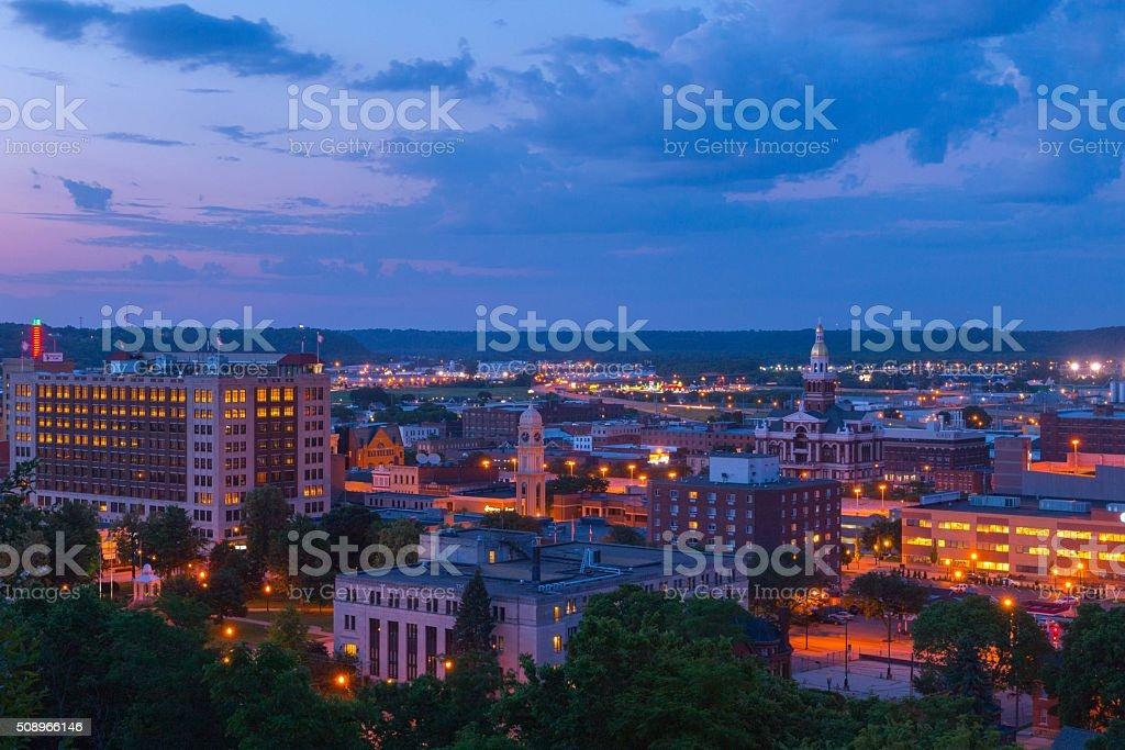 Downtown Dubuque Iowa stock photo