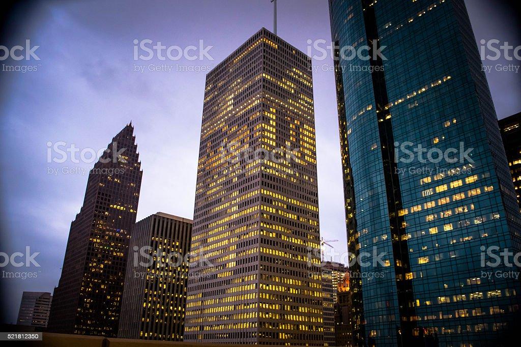 Downtown Dusk stock photo