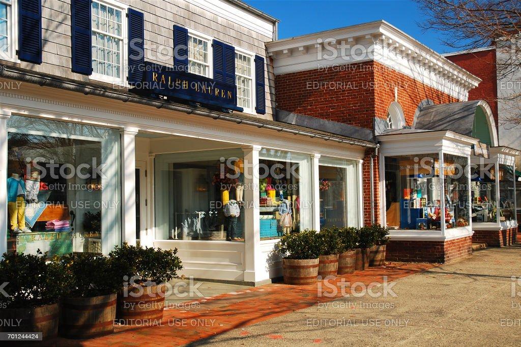 Die Innenstadt von East Hampton – Foto