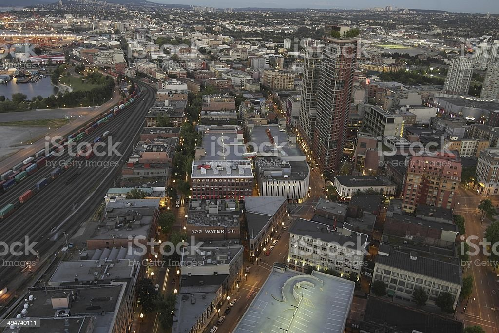Downtown Eastside Vancouver stock photo