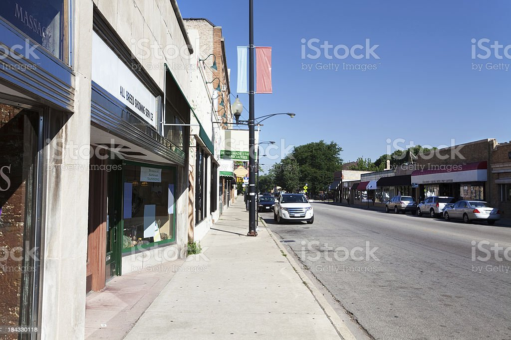 Downtown Edison Park, Chicago royalty-free stock photo