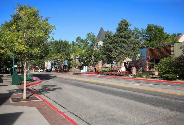 Downtown Estes Park, Colorado stock photo