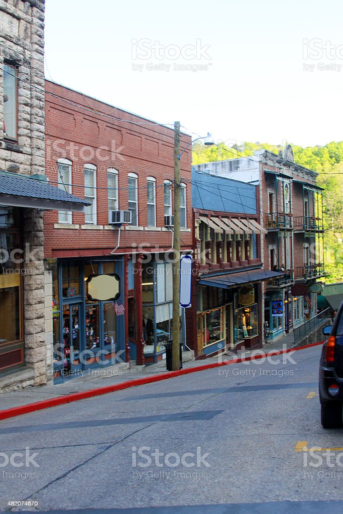 Downtown Eureka Springs, Arkansas stock photo