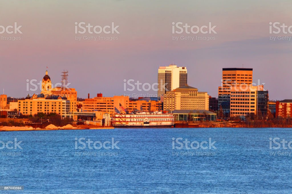 downtown evansville indiana skyline stock photo more pictures of