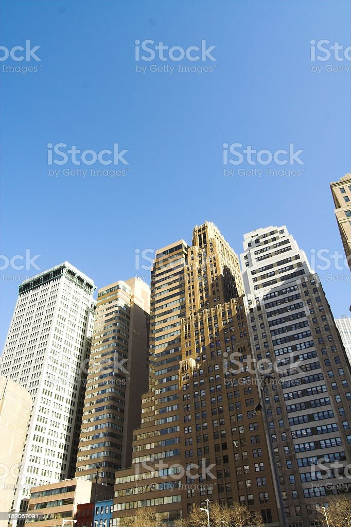 Downtown Financial Center royalty-free stock photo