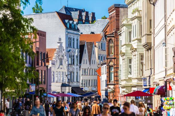 Downtown Flensburg stock photo