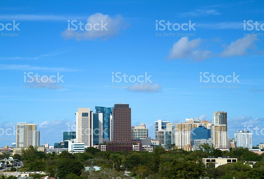 Downtown Fort Lauderdale skyline stock photo