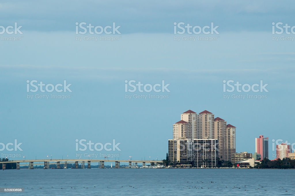 Downtown Fort Myers Florida River District stock photo