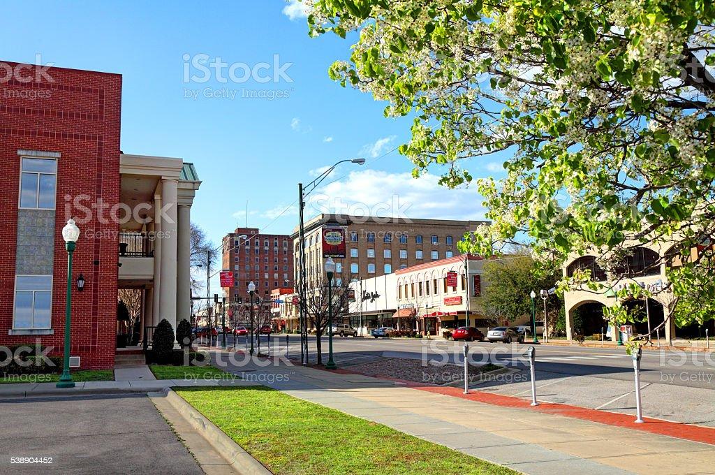 Downtown Fort Smith, Arkansas stock photo
