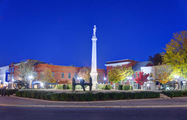 Downtown Franklin, Tennessee stock photo
