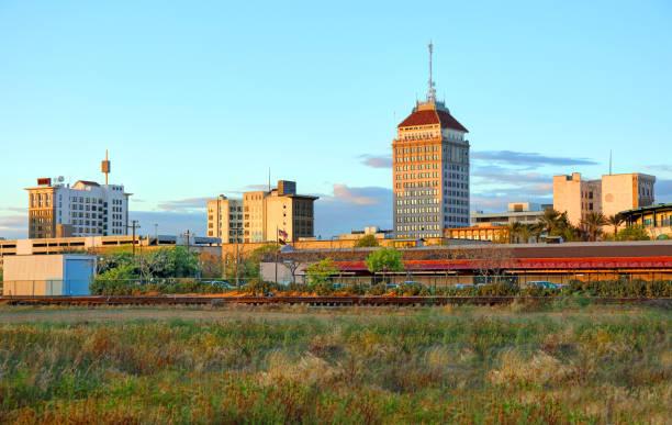 Downtown Fresno, California Skyline stock photo