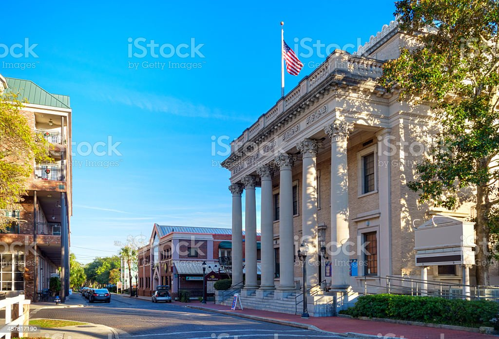Downtown Gainesville Florida stock photo