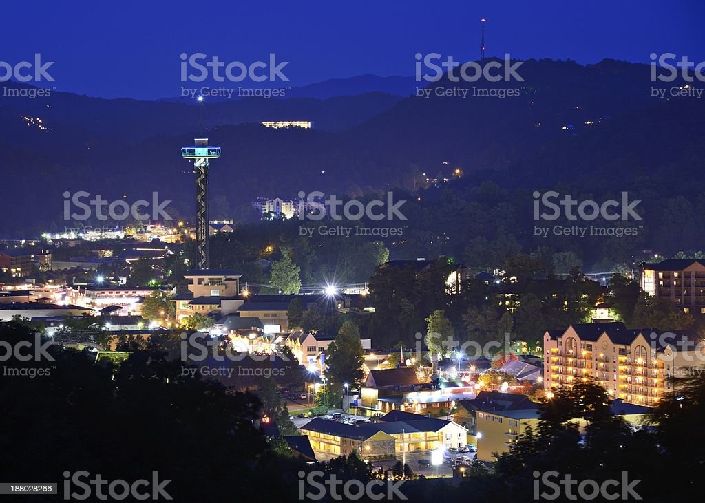 Downtown Gatlinburg, Tennessee royalty-free stock photo