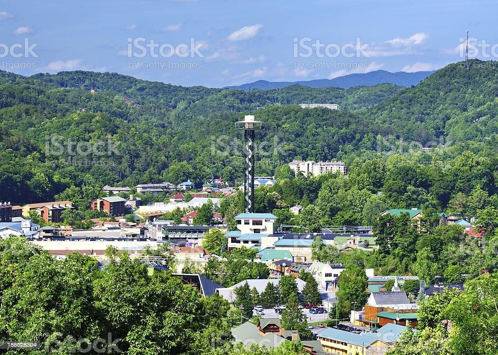Downtown Gatlinburg, Tennessee royalty-free stock photo
