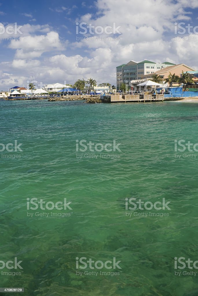 Downtown Georgetown in Grand Cayman stock photo