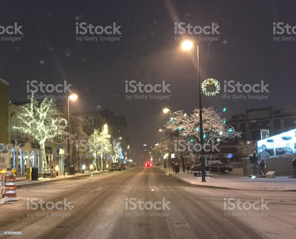 Downtown Green Bay in the Winter stock photo