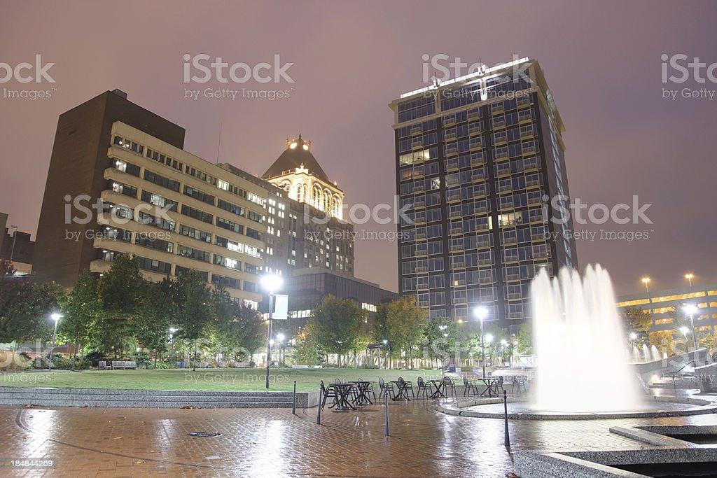Downtown Greensboro stock photo