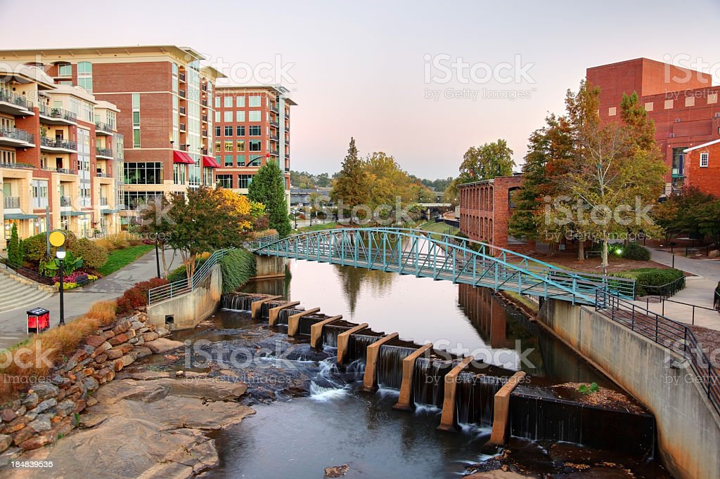 Downtown Greenville South Carolina stock photo