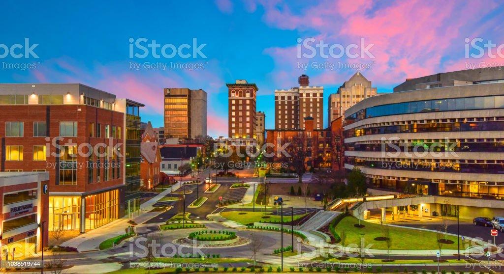 Downtown Greenville, South Carolina Skyline Cityscape royalty-free stock photo