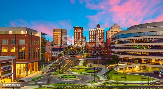 Downtown Greenville South Carolina Skyline Cityscape Stock Photo & More Pictures of Aerial View