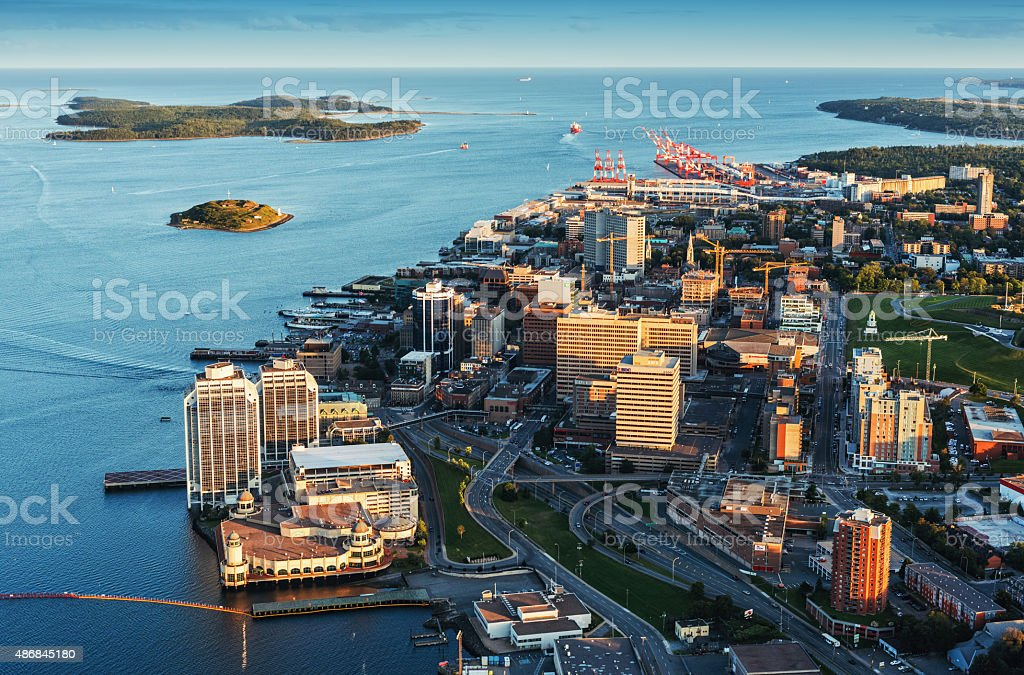 Downtown Halifax Aerial View stock photo