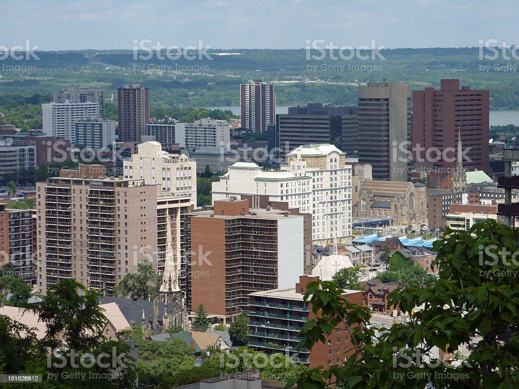 downtown Hamilton Ontario stock photo