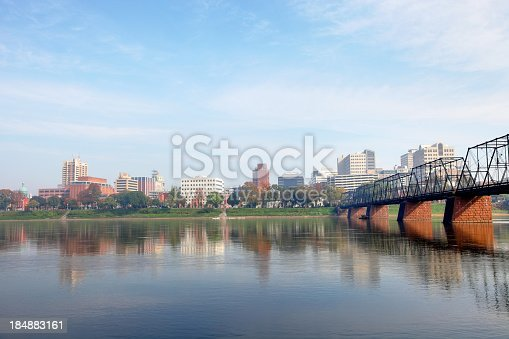 The capitol region of Harrisburg,Pennsylvania along the banks of the Susquehanna River
