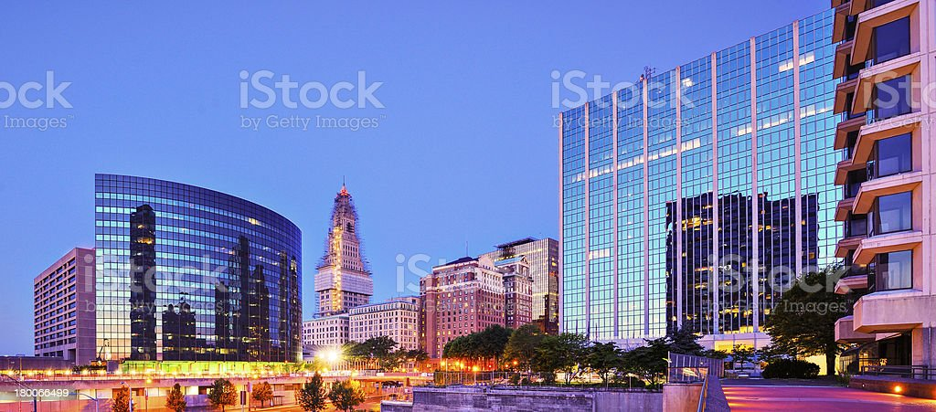 Downtown Hartford, Connecticut Skyline stock photo