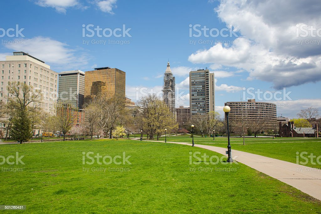Downtown Hartford, CT stock photo