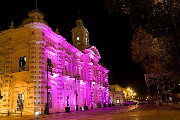 Downtown Hermosillo at night stock photo
