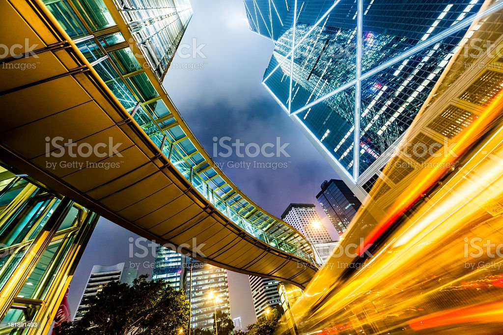 Downtown Hong Kong stock photo