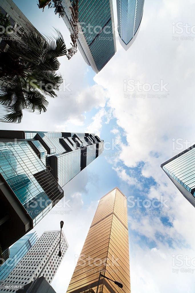 Downtown Hong Kong royalty-free stock photo