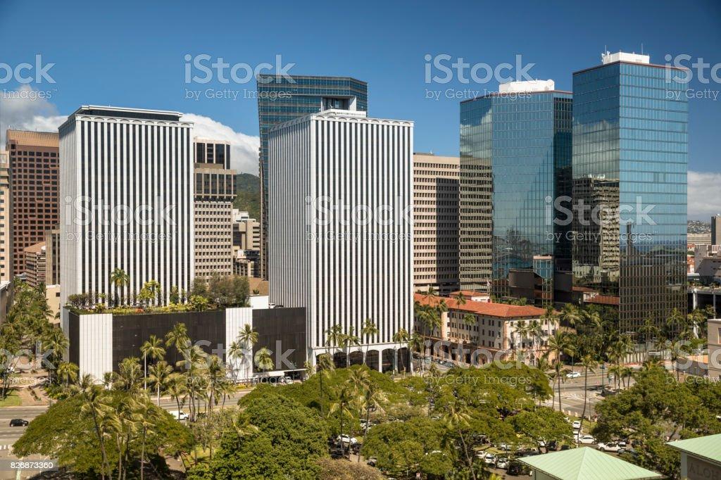 Die Innenstadt von Honolulu Hawaii und Waikiki Stadtbild – Foto